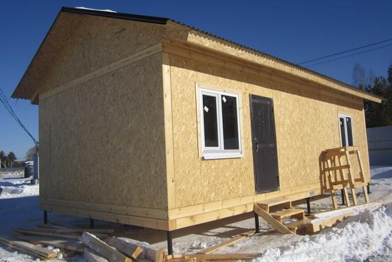 Каркасный дачный домик из сип панелей 10х5
